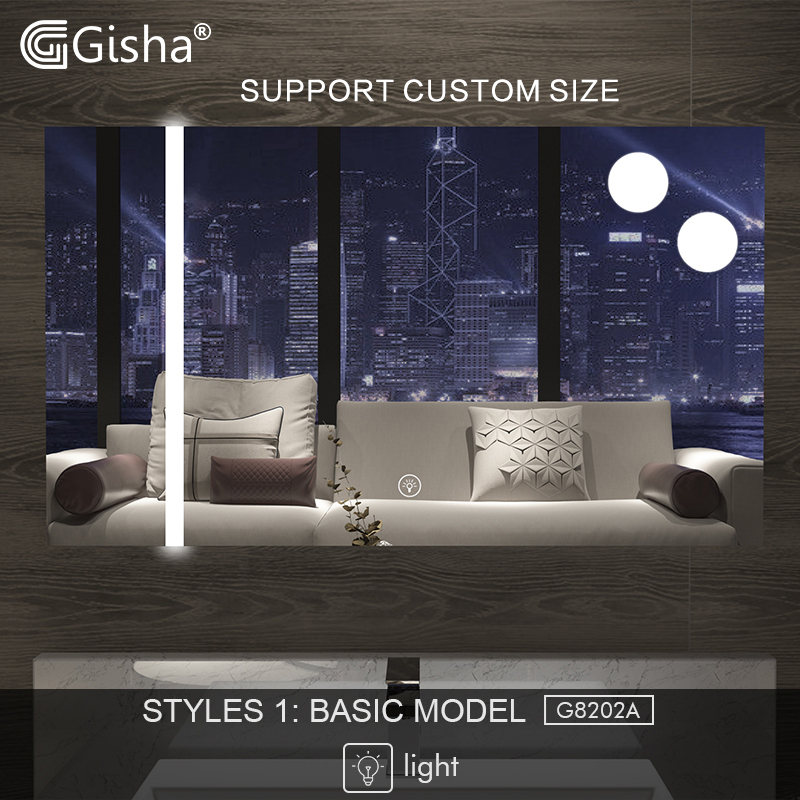 Home Improvement Gisha Smart Mirror Led Bathroom Mirror Wall Bathroom Mirror Bathroom Toilet Anti-fog Mirror With Touch Screen Bluetooth G8202