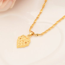 Bangrui Dubai india gold leaf for Women,Ethiopian Pendant Necklace Gold Color Jewelry Africa/Arab Flower Gifts(China)