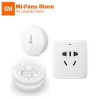 Original Xiaomi 3 In1 Temperature Humidity Sensor Smart Socket Plug WiFi Remote Home Multifunctional Gateway