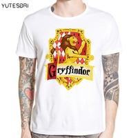 Magic School T Shirt Four College Crest Design Gryffindor Ravenclaw Hufflepuff Slytherin T Shirt Fashion Tshirt