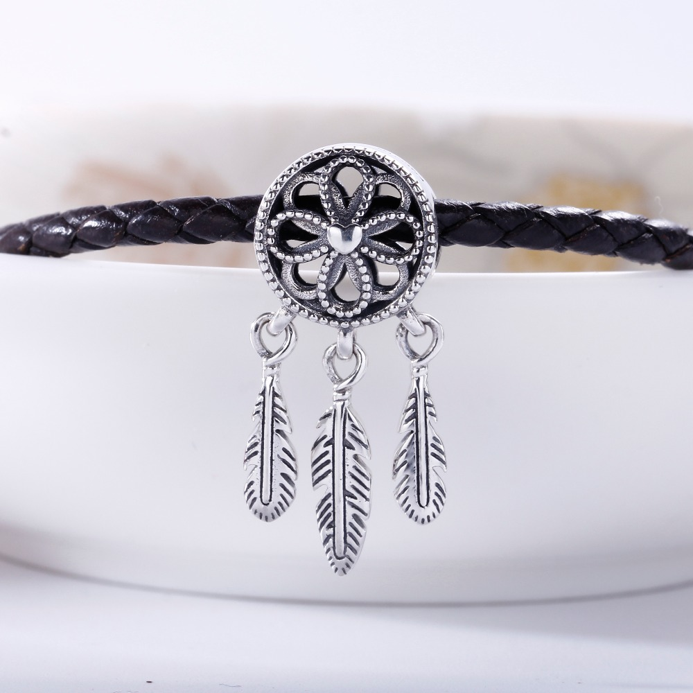 New 2018 Summer 925 Sterling Silver Spiritual Dream Catcher Charm Fit Original Pandora Bracelet Charms Bead for Jewelry Making strollgirl car keys 100% sterling silver charm beads fit pandora charms silver 925 original bracelet pendant diy jewelry making