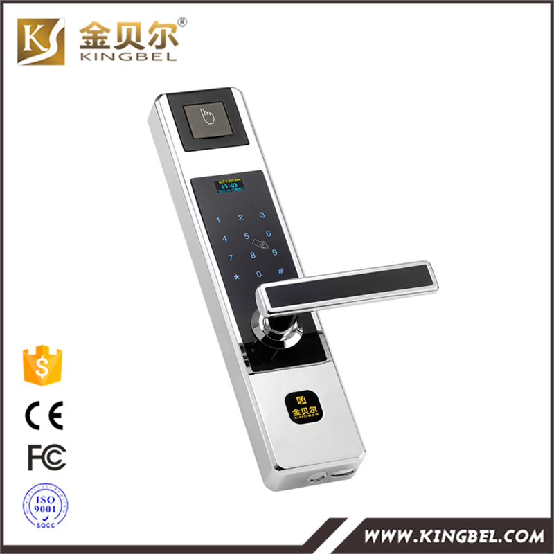 Touch screen biometric fingerprint digital door lock for for 1 touch fingerprint door lock