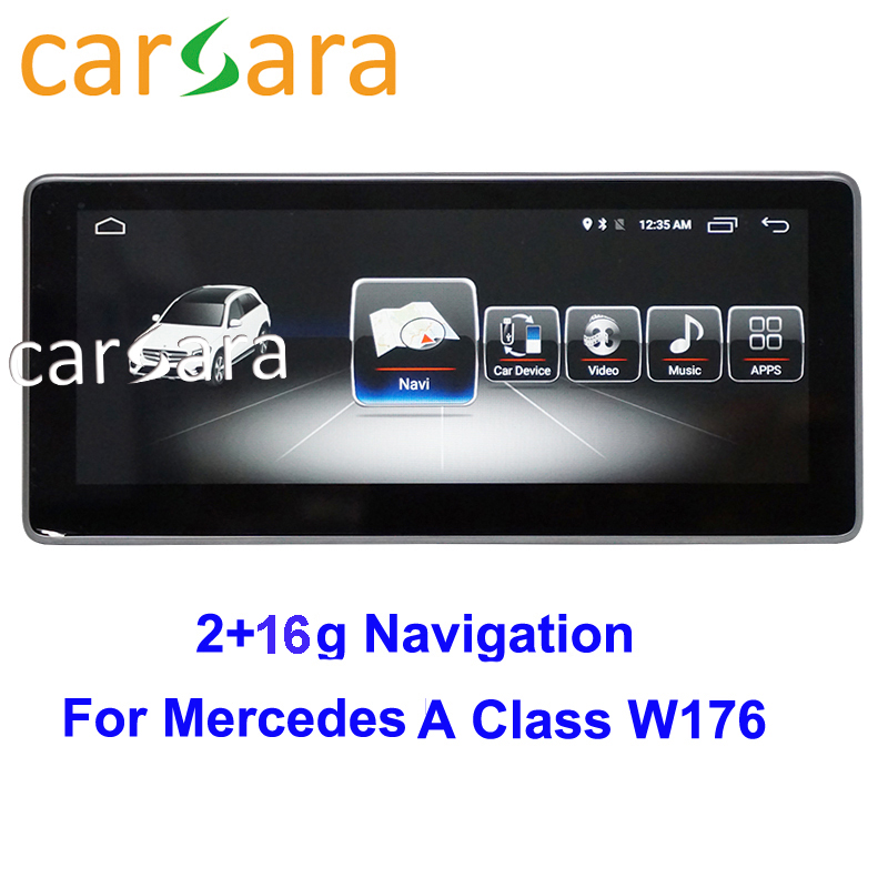 "2G RAM 16G ROM 10.25"" Android monitor for Mercedes GLA CLA A Class W176 CLA 45 200 250 2013 to 2015 touch screen Car Audio"