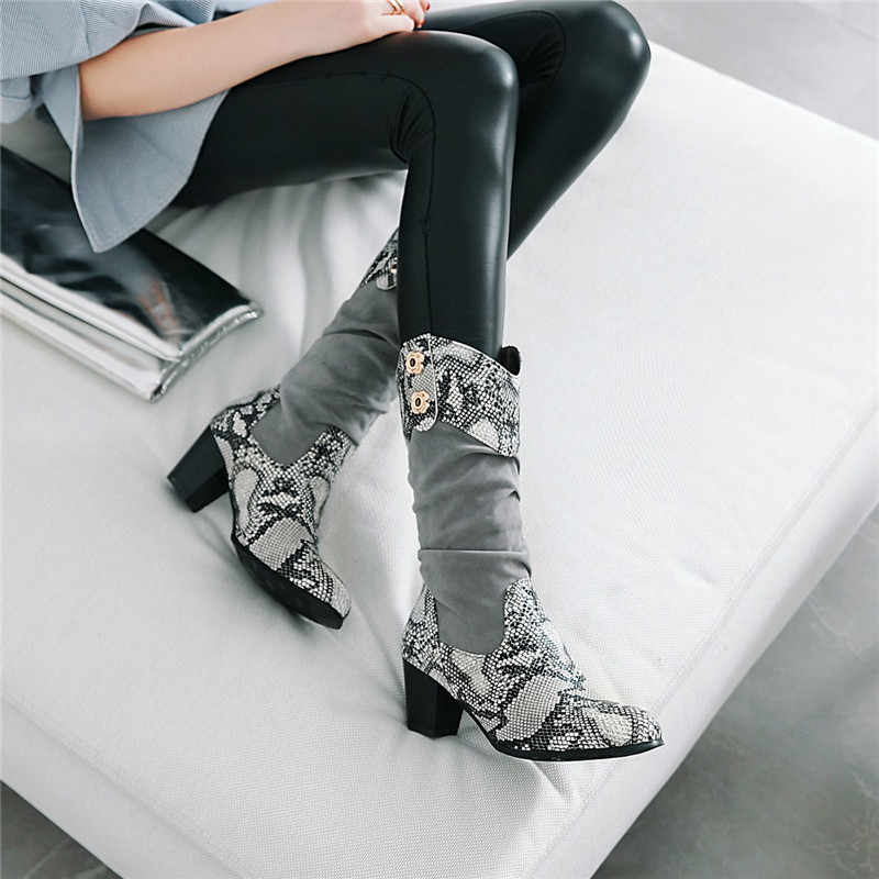 94f1c77df1e Detail Feedback Questions about YMECHIC Europe Gray Snakeskin Design ...