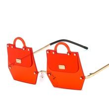 New trend handbags sunglasses female irregular metal frame modern catwalk fashion