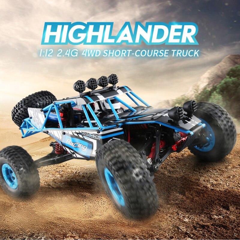 Nouveau désert à grande vitesse cross-country crambing car 2.4G 4WD 1:12 39 CM grande taille 40-50 KM/H radiocommande enfants adulte RC jouet