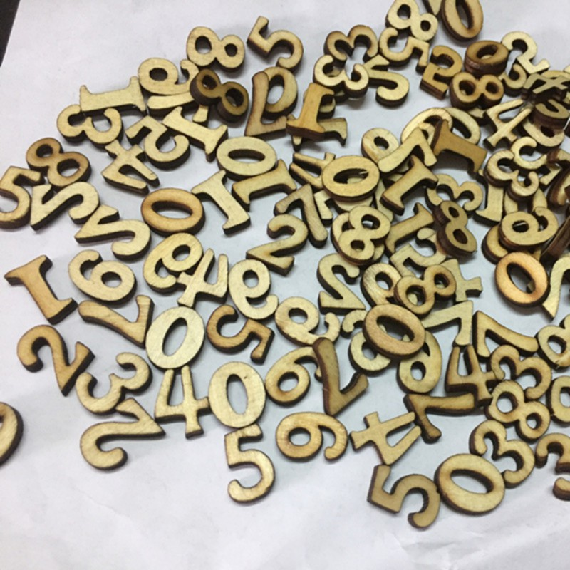 figure 1-100 DIY Mixed Rustic 100pcs Wooden Love Heart Wedding Table Scatter Decoration Craft Accessories