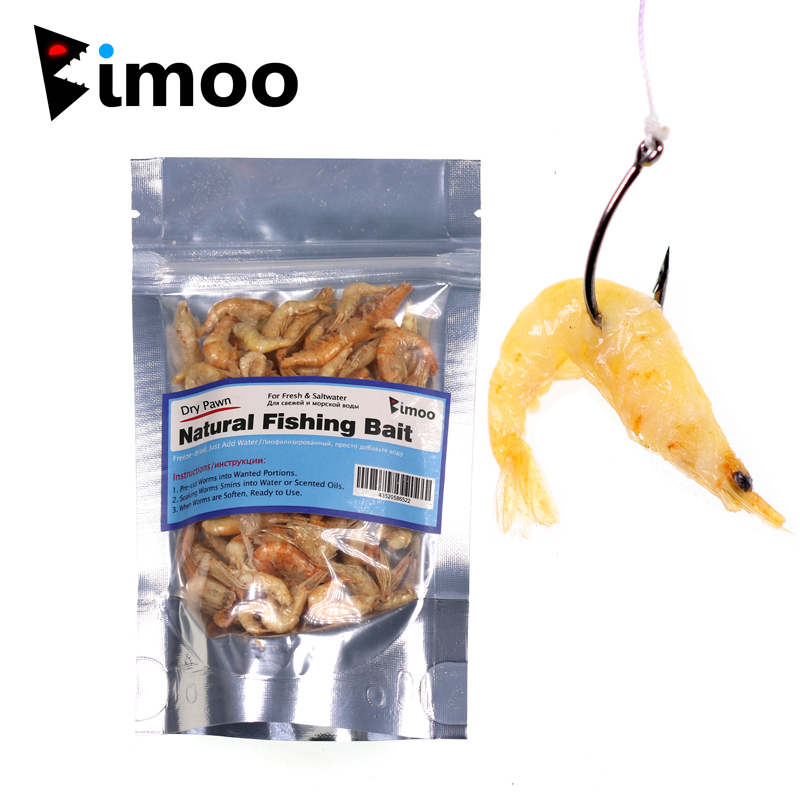 1 Bag Freeze Dried Pawn Freshwater For Fishing Shrimps For Saltwater Sardine Makerel Carp Fish Bait Pet Fish