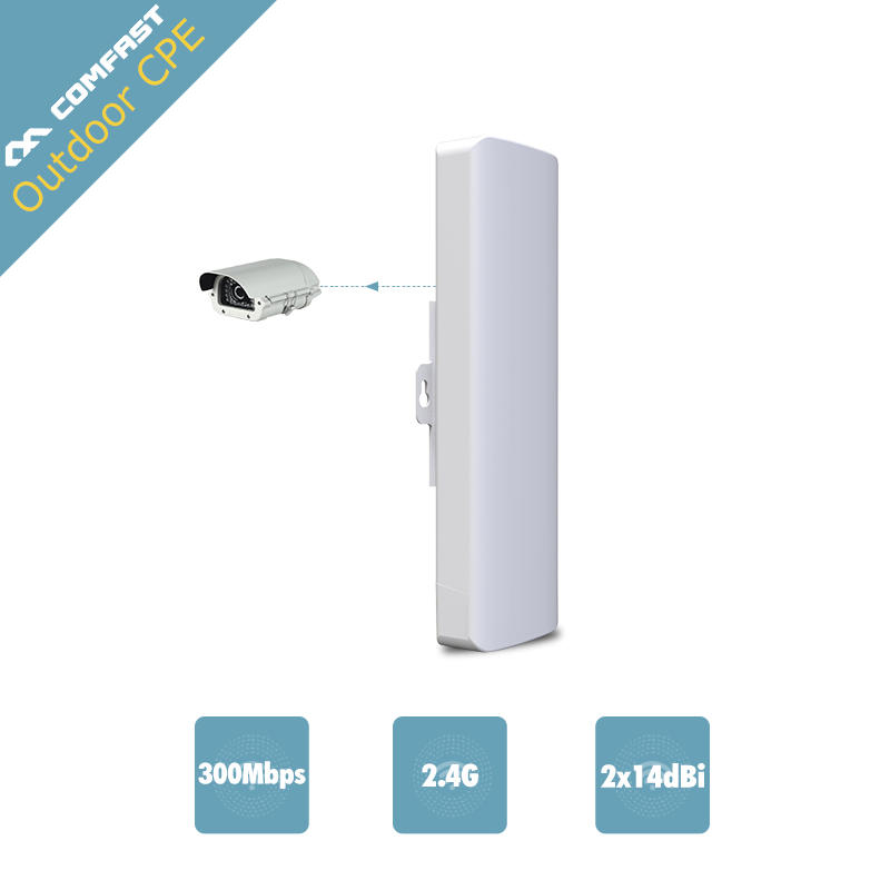 1-3k Outdoor Wifi CPE WIFI Repeater 300Mbps 2.4G wi-fi AP access point wireless wifi extend CPE Router With POE Adapter cf-e314n
