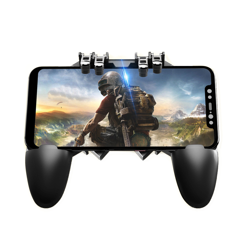 Mobile PUBG Controller  Gamepad For IOS Android Six Finger Operating Peripherals