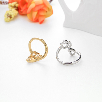 simple adjustable hollow Pet paw prints heart rings women animel Dog Cat lover Ring men Cute Puppy Paw Memorial Ring Jewelry 1