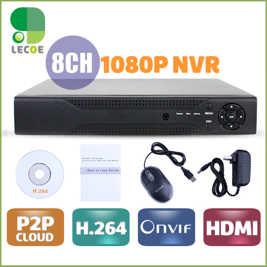 CCTV 8CH NVR Onvif H.264 HDMI High Definition 1080P Full HD 8 channel Network Video Recorder CCTV NVR For IP Camera system XMEYE 180 days warranty original projector lamp bulb with housing lmp e150 for vpl es2 pl ex2 projectors