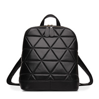 MUPO Brand Luxury Women Sheepskin Genuine Leather Rhombus Pattern Backbag School Bag Fashion Girl Backpacks 15101206 2017 New