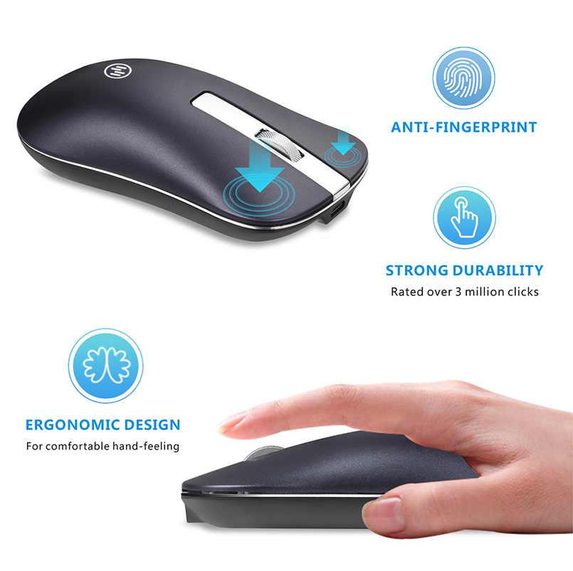 Bluetooth ワイヤレスマウスサイレントゲーミングマウス充電式コンピュータマウスワイヤレス 2.4 2.4ghz の人間工学 Pc ラップトップのための Usb モウズ