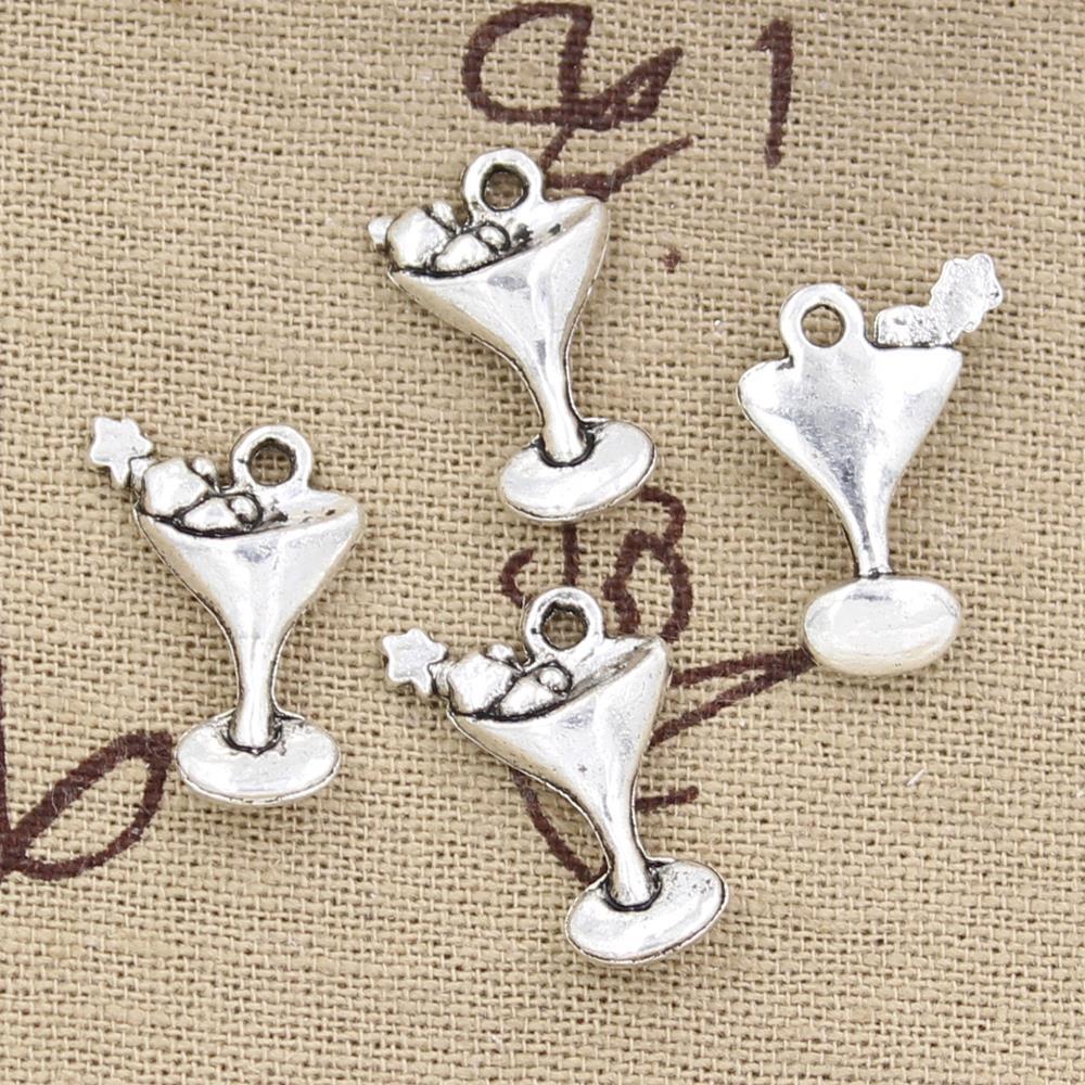 6pcs Charms martini daquiri glasses 20*14mm Antique Making pendant fit,Vintage Tibetan Silver,DIY bracelet necklace