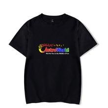 LUCKYFRIDAYF Kpop Travis Scotts ASTROWORLD Print Short Sleeve Cool Popular T-shirts Funny Men/Women Summer T Shirts Tops