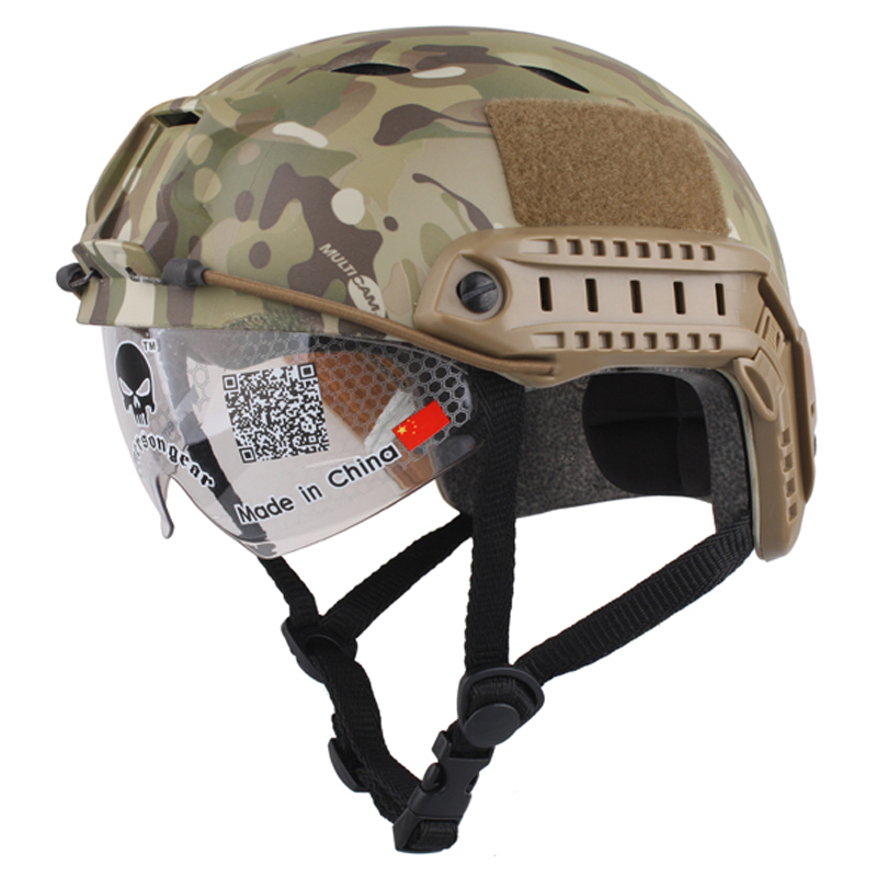 NEW Emerson FAST Helmet with Protective Goggle Pararescue Jump BJ Type Helmet Military Tactical Airsoft Helmet fast helmet protective goggle helmet pararescue jump type helmet military tactical airsoft helmet