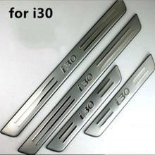 4 шт./компл. нержавеющая сталь Накладка/порог дверь порог для hyundai I30 2005-2013 автомобильные аксессуары Стайлинг