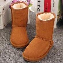 afbdad7dd 2019 кожаные сапоги для маленьких девочек buty детские резиновые сапоги для  мальчиков детская зимняя обувь зимние