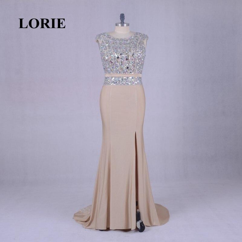 Лори Роскошный Кристалл партия плюс Размеры вечернее платье для женщина мать невесты длинное платье Русалка Формальные Шампанское платье