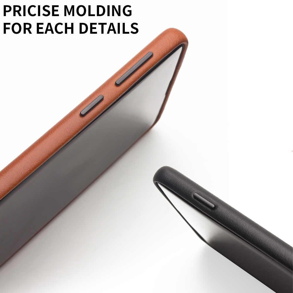 QIALINO sac en cuir véritable téléphone étui pour Samsung note10 + S10 + Plus mode luxe couverture arrière pour Samsung S10 pour 6.1/6.5 pouces
