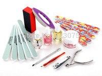 Hot Pro Acrylic Nail Art Hand Care Polish Base Full Set Buffer Tool Set Kit Manicure DIY