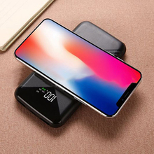 New Arrival 20000mah Power Bank External Battery PoverBank Wireless charging Powerbank Portable Mobile phone Charger For Samsung