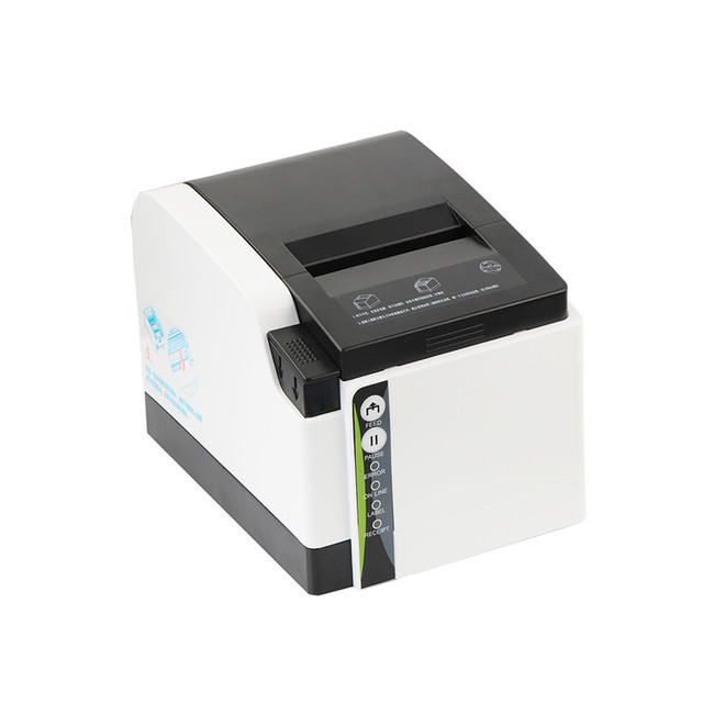 ZH308I bar code thermal printer clothing tag goods sticker label  supermarket retail receipt with cutter USB blue