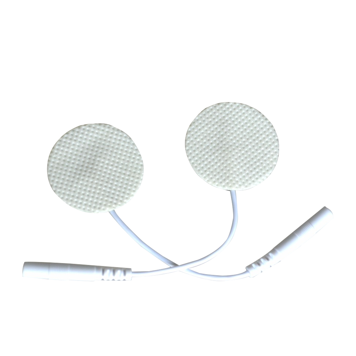 1000 пар/лот электрод круглый нетканые самоклеящиеся десятки электродов колодки с жильный кабель для цифровой терапии машина массаж