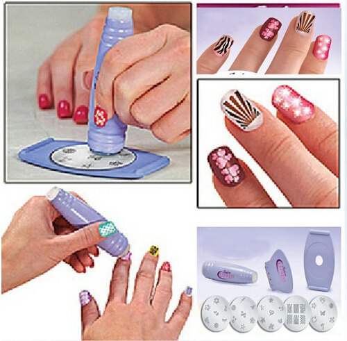 Aliexpress Buy Diy Nail Stamping Kit Nail Art Stamp Scraper