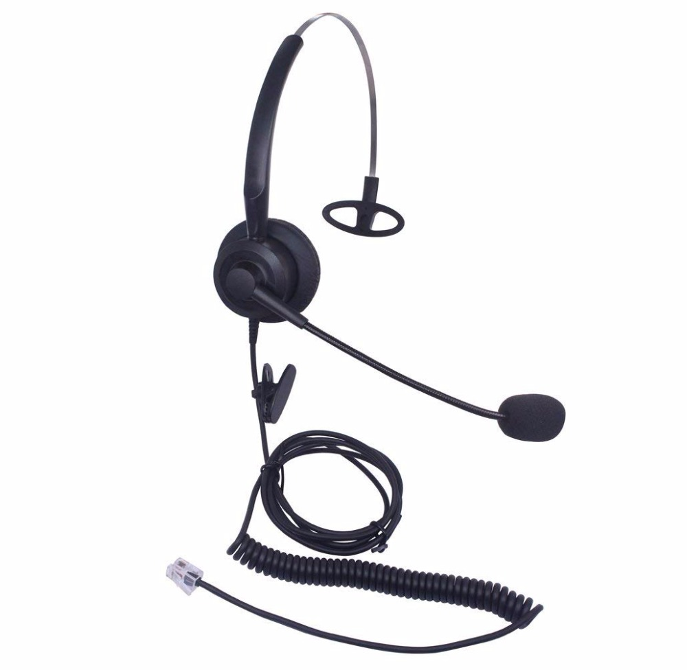 wantek mono call center headset headphone with mic for cisco ip phones 7942 and plantronics m10 [ 1000 x 976 Pixel ]