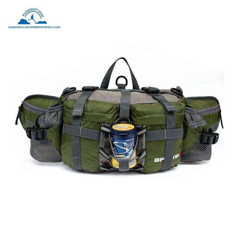Water-Resistant Fanny Bag Sided Waist Bag Shoulder Carry Strap Storage Pack Sling Bag Gear Storage for Hiking Camping Fishing