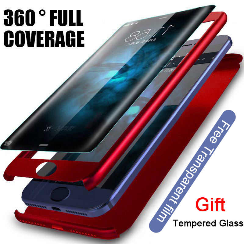360 Degree Case for Huawei Y6 2018 Hard PC Full Cover Case for Huawei Y7  Prime 2018 Y5 2017 Case for Huawei Y9 Y7 Pro 2019 Coque