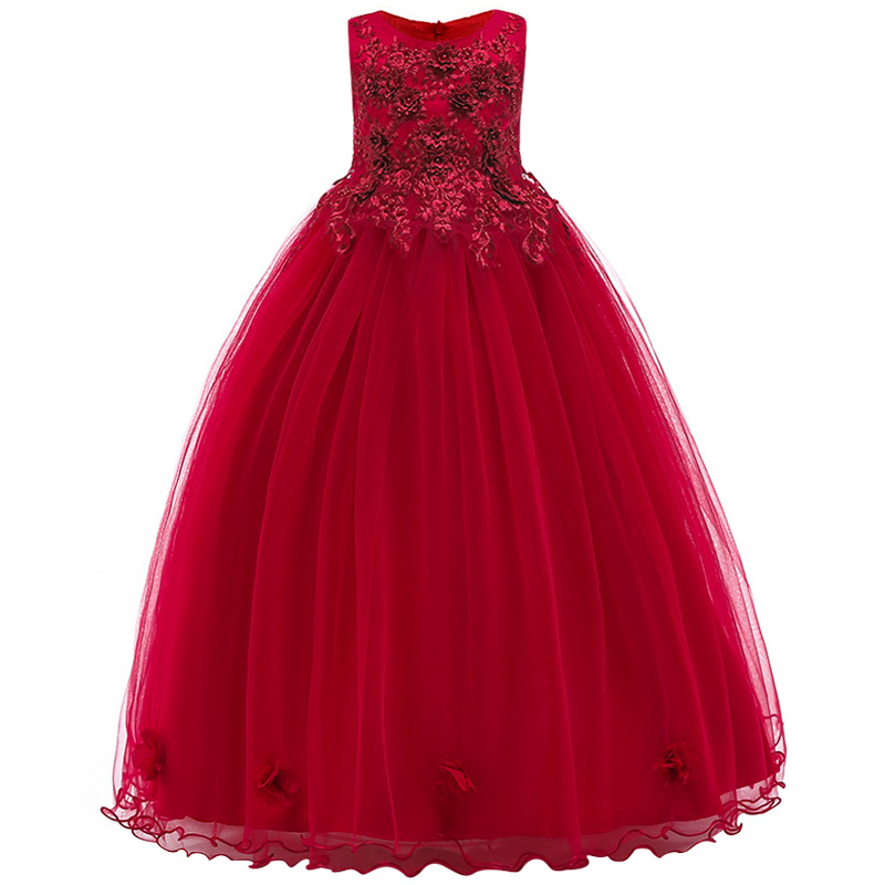 5-14Y Teenager Girls Dresse For Birthday Party s Kids Party Ball Gown Princess Bridesmaid Children Tutu Dress Christmas Clothes christmas halloween princess dress cosplay snow white dress costume belle princess tutu dress kids clothes teenager party 10 12