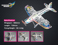Depron Cirrus 650 Airplane Model 3D 650mm F3A Indoor Flyer RC