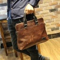 Fashion Men S Business Travel Bag Genuine Leather Men S Computer Bag 14 Dress Leather For