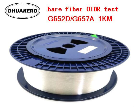 Free Shipping AB194A 1KM singlemode Single bare fiber OTDR measuring Optical Fiber Cable 9 125 OTDR