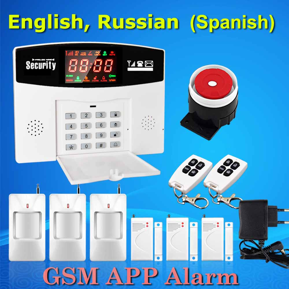 free shipping wireless gsm home security alarm system smoke detector 433mhz door open magnetic. Black Bedroom Furniture Sets. Home Design Ideas
