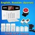 Frete Grátis Sem Fio GSM Home Security Sistema de Alarme de Detector De Fumaça 433 MHz Porta Aberta Movimento Magnético Detector de Venda Quente
