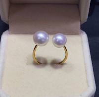 Eternal Wedding Women Gift Word 925 Sterling Silver Real New Natural Freshwater Pearl Ring 18K Wedding
