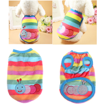 Pet Dogs Sweater Funny Cute Worm Jacket Clothes Dog Puppy Colorful Stripe Winter Warm Clothing Outfit