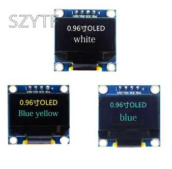 10pcs 0.96 inch IIC Serial Yellow Blue White OLED Display Module 128X64 I2C SSD1306 12864 LCD GND VCC SCL SDA 0.96