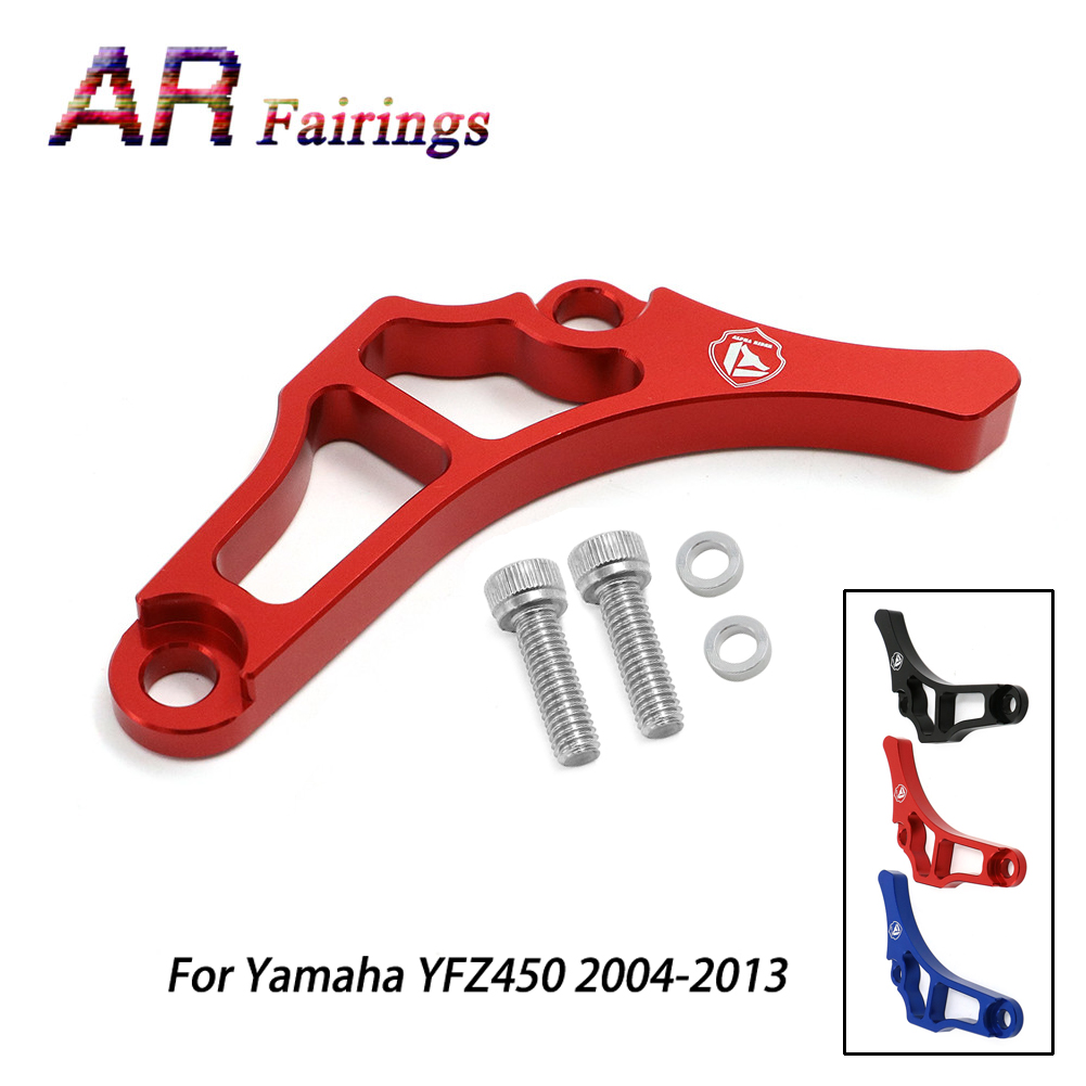 A Set ATV Parts Chain Saver Guard Engine Cases Frame Slider Protection For Yamaha YFZ 450 YFZ450 2004-2013 12 11 10 09 08 07 06