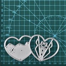 Naifumodo Heart Dies Metal Cutting Scrapbooking Embossing Cut Stencils Cards 2019 New Craft
