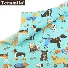 Teramila 100% Tela de sarga de algodón textil para el hogar DIY paño para coser patchwork Tissu Tecido perro estilo Tela acolchado Decoración