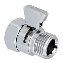 100% Brass Flow Control Valve Water Pressure Reducing Controller Hand Held Sprayer Head Shut Off Stop Switch For Shower Supply