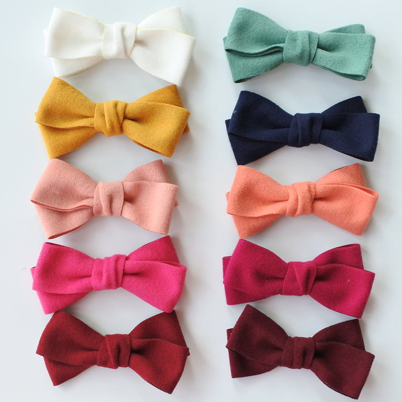 12pcs/lot Two Layer Solid Color Girls Large Bows Boutique Bow Hair Clips For Women Hair Barrettes Hair Accessories Headwear