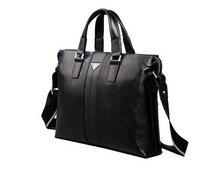 2015 fashion first layer genuine leather men messenger bags cowhide men's briefcase business shoulder bags laptop #VP-P630181