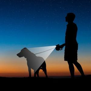 Image 5 - Laisse de chien de 26 pieds 8 M rétractable extensible en Nylon laisse danimal familier pour de grands petits chiens moyens avec la lampe torche détachable de 9 LED