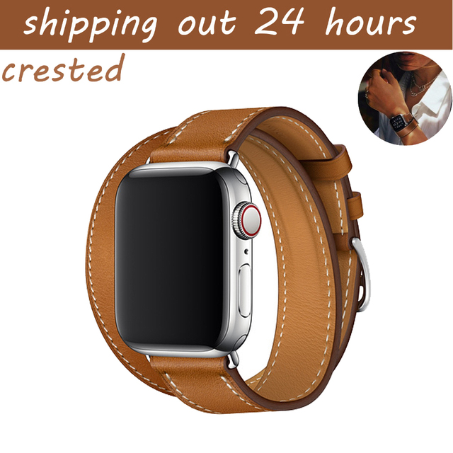 AIGRETTES Véritable En Cuir bande pour apple bande de montre 42mm 38mm montre  ceinture bracelet bracelet 9bc1ca96301